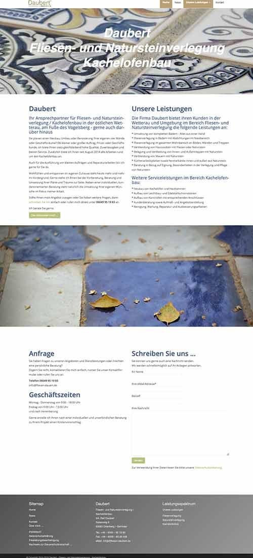Screenshot Website http://fliesen-daubert.de